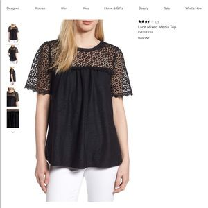 Lace mixed top